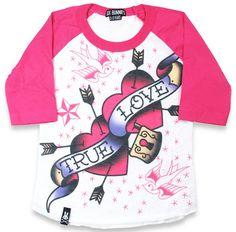 Six Bunnies True Love Kid's Raglan T-Shirt