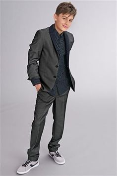 Dark Party Suit Jacket and Suit Trousers