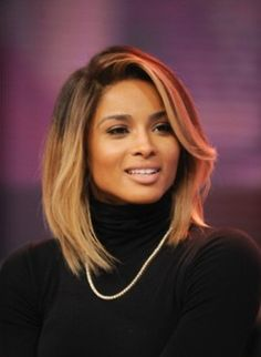 Love Ciara's blonde hued bob hairstyle!!...:)