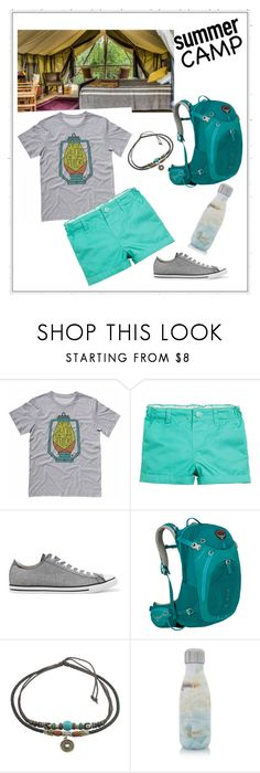 """""""summer camp"""" by debbie84015 ❤ liked on Polyvore featuring Converse, Osprey, S'well, summercamp and 60secondstyle"""