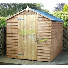 8ft x 6ft Super Saver Overlap Apex Windowless Shed With Single Door (Solid 10mm OSB Floor)