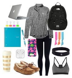 """stuDYING"" by whalesandprints ❤ liked on Polyvore featuring NIKE, Under Armour, Speck, The North Face, Splendid, Paper Mate, UGG Australia, lululemon and Kate Spade"