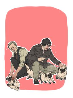 is this Hannibal and will? Hannibal Series, Pug Mops, Will Graham, Movies Showing, Puppy Love, Pugs, My Design, Horror, Pug