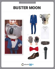 The best costume guide for dressing up like Buster Moon, the optimistic crooner turned theater owner in the animated comedy, Sing. Got Costumes, Costume Ideas, Video Game Characters, Disney Characters, Character Dress Up, Moon Costume, Pop Culture References, Family Halloween Costumes, Themed Cakes