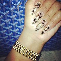 Blac Chyna Versace Nails. Can anyone say Versace Versace Versace
