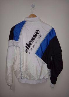 Vintage ELLESSE Jacket Tennis Italian Casual by TwistedFabrics