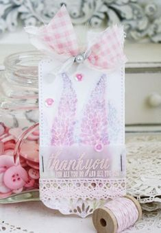 Flower Favorites Revisited - Thank You Card by Melissa Phillips for Papertrey Ink (September 2015)