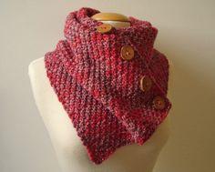 HandmadeHandsome, handmade items and knitting patterns, handgemaakte artikelen en breipatronen: Buttoned snood / cowl / scarf