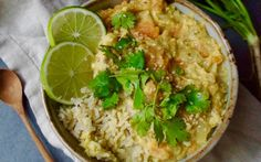 <p>Dhal is dish originating from Indian cuisine that's made using lentils and blended spices. This version keeps the lentils, but adds creamy sweet potato into the mix. </p>