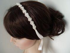 Wedding Accessory Bridal Headband hair piece by WeeGardens on Etsy, $53.00