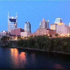 Sunrise with the springtime Nashville skyline...:-)