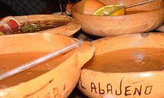 The famous tequila drink called cazuelitas. Tlaqueplaque - Guadalajara