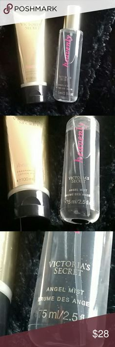 New Victoria's Secret Heavenly Bundle Brand new Victoria's Secret heavenly bundle. Angel mist and lotion.   Any questions please feel free to ask. Happy Poshing! Victoria's Secret Other