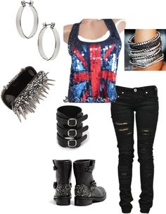 """""""80's rock"""" by kreves on Polyvore"""