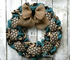 Year Round Wreath Everyday Wreath Front Door Decor by BurlapBlooms