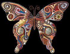 Mosaic butterfly. Irina Charny