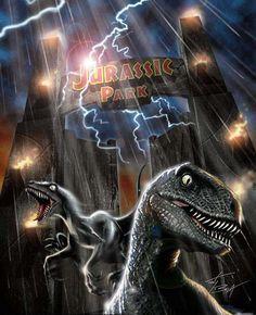 The Raptors: just plain batshit crazy. Michael Crichton, Jurassic Park Raptor, Jurassic Park 1993, Jurrassic Park, Park Art, Science Fiction, Thriller, Jurassic World 2015, The Lost World