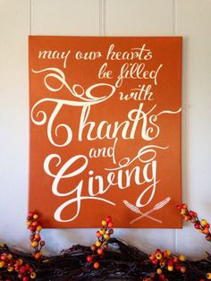 Thanksgiving Holiday Fall Decoration Painted