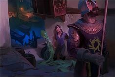 """Unofficial Paul Felix - """"Tangled"""" concept art - This shows a possible darker story than the one they ended up. Stunning."""