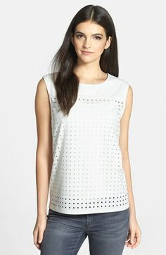Trouvé Perforated Knit Tank | Nordstrom