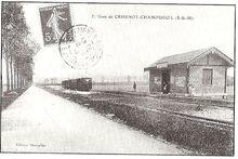 La gare de Champdeuil - Crisenoy en 1906