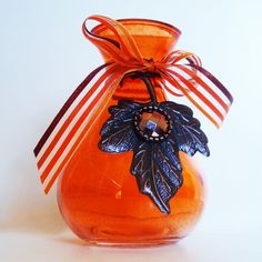 SALE 10 % off !!!   schöne Vase orange