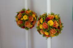 Lumanari nunta, trandafiri, alchemila https://www.facebook.com/FlowersByAna