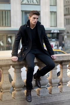 All black men& outfit fashion shoes black style fashion and styl. Sharp Dressed Man, Well Dressed Men, Fashion Moda, Mens Fashion, Style Fashion, Fashion Shoes, Fall Fashion, Fashion Menswear, Fashion 2018