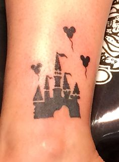 My 2nd Disney Tattoo.  Sleeping Beauty's castle in Disneyland.  My favorite place to take our three kids!