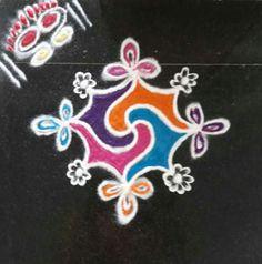 Free Hand Rangoli Design, Rangoli Ideas, Colorful Rangoli Designs, Beautiful Rangoli Designs, Indian Rangoli, Kolam Rangoli, Easy Rangoli, Latest Rangoli, Rangoli Colours