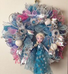 Discounted Frozen Elsa Wreath - pinned by pin4etsy.com