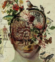 Terra Incognita: The Retro-Futuristic Anatomical Art of Diego Max Arte Com Grey's Anatomy, Anatomy Art, Art And Illustration, Biology Art, Art Tumblr, Brain Art, Medical Art, A Level Art, Retro Futuristic