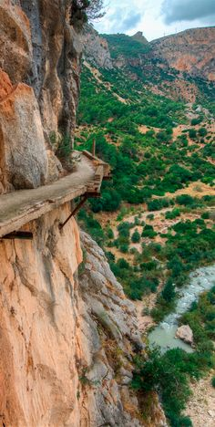 One of the sketchiest hikes in the world! El Camino del Rey is found in Málaga #Spain