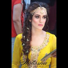 matha patti on a real bride for her mehndi - styled by Natasha Salon