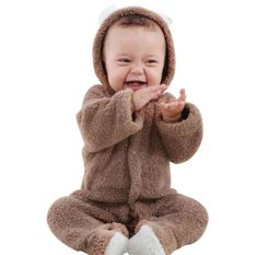 Baby Rompers Winter Warm Longsleeve Coral Fleece Newborn Baby Boy Girl Clothes Infant Jumpsuit Animal Overall Pajamas Baby Outfits Newborn, Baby Girl Newborn, Baby Boy Outfits, Baby Set, Girls Rompers, Baby Rompers, Polaroid, Bear Ears, Baby Warmer