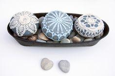 crochet+lace+stone+//+sea+foam+blue+//+turquoise+by+TableTopJewels,+$55.00