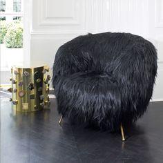 KELLY WEARSTLER | SOUFFLE CHAIR. In Goat hair