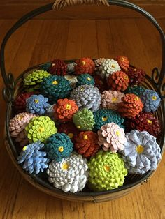 Paint your pinecones for fall decoration.  All Things Plants