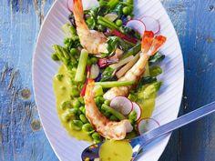 Bohnensalat mit Shrimps  