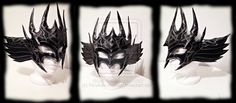 Dark Valkyrie Leather Mask by Feral-Workshop.deviantart.com on @DeviantArt