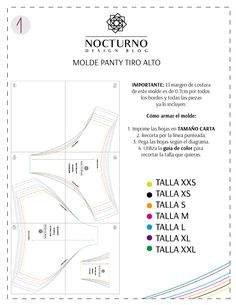 Costura fácil: Panty tiro alto en velvetín + molde gratis – Nocturno Design Blog Sewing Tutorials, Sewing Projects, Sewing Patterns, Sewing Clothes, Diy Clothes, Underwear Pattern, Swimsuit Pattern, Cute Lingerie, Design Blog