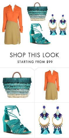 """colour blocked"" by aqualyra ❤ liked on Polyvore featuring Kayu, Nine West, Elizabeth Cole, colourblocking and springsummer2017"