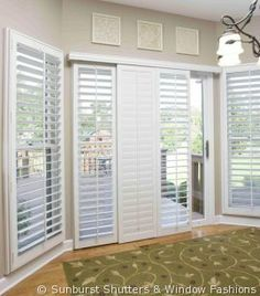 Custom plantation shutters for sliding glass door by mcfeely window custom plantation shutters for sliding glass door by mcfeely window fashions window treatments pinterest glass doors window and doors planetlyrics Choice Image