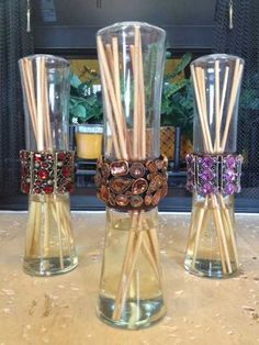 Resealable Reed Diffusers with Bling! The Bling can also be worn as a bracelet!!