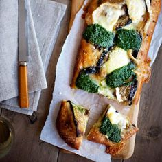 Eggplant, Pesto, and Goat-Cheese Pizza   Tangy goat cheese, sharp ...
