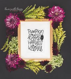 12 Hand-Lettered SVG Cut Files for Fall