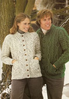 A PDF copy of a vintage knitting pattern to make classic Aran cardigans to fit men and women. In Patons Capstan Aran Knitting Wool In two sizes to fit from 34-41 inch (86-104 cm) chest. This vintage pattern is in UK terminology and English language, I provide a UK/USA conversion chart with your purchase. This listing is for a PDF copy of the above vintage knitting pattern, not the actual pattern, or the garment. It is available by instant download and will appear in the downloads section…