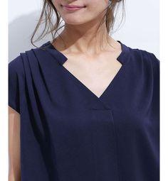 立衿スキッパーブラウス(Lグレー38:7月上旬発送): ナノ・ユニバース/nano・universeルミネ 通販 -アイルミネ<i LUMINE>- Neck Designs For Suits, Neckline Designs, Dress Neck Designs, Blouse Designs, Collar Styles, Blouse Styles, Kurta Patterns, Simple Pakistani Dresses, Kurti Embroidery Design