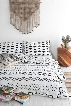 geometric duvet cover.