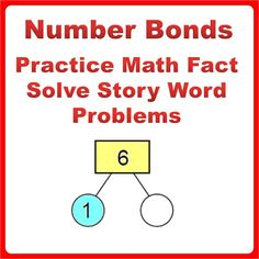 Number Bond Worksheets Bundle Pack to improve mental arithmetic calculation, learn effective and fast mental calculation using addition and subtraction strategies. Learn word problem solving skills by visualization.